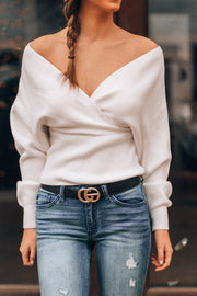 Sweater Weather Knit Top (White)