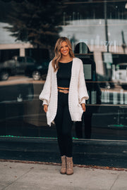 Oversized and Cozy Cardigan (Cream)