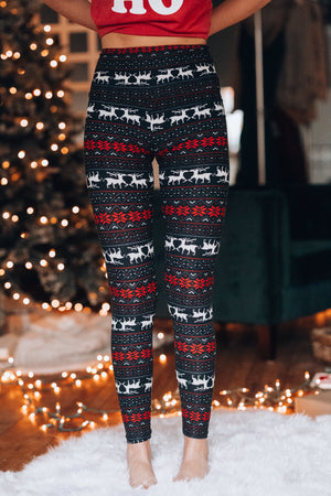 Santa Baby Leggings 5 inch band - FINAL SALE