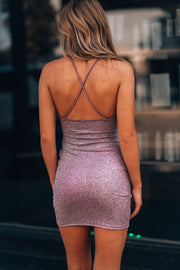 The Little Glitter Dress (Mauve/Silver)
