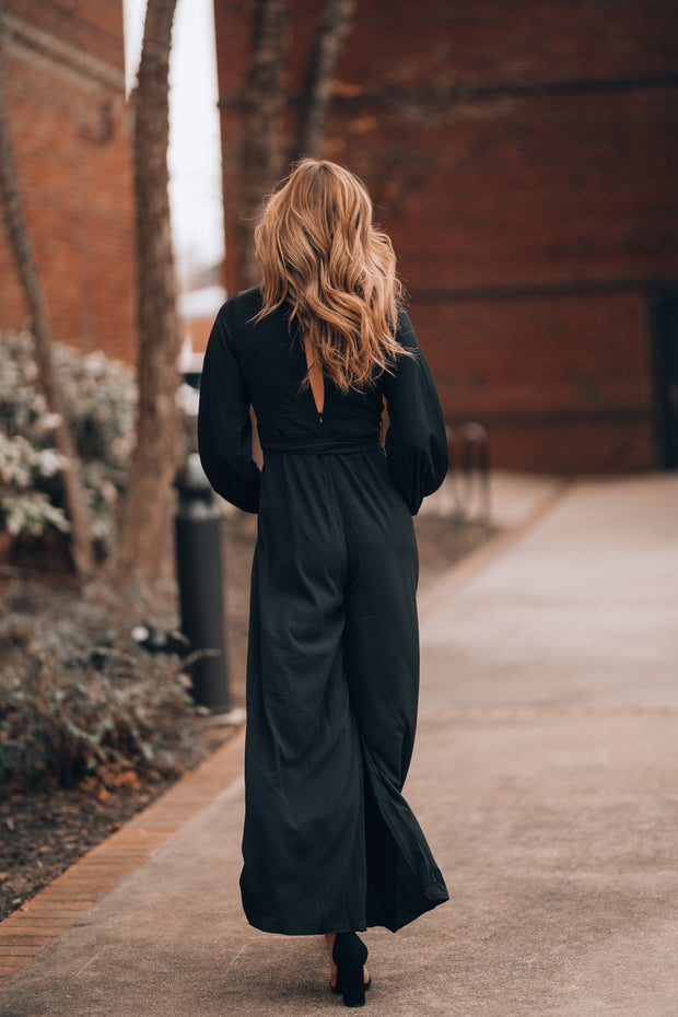 Chic Happens Jumpsuit (Black)