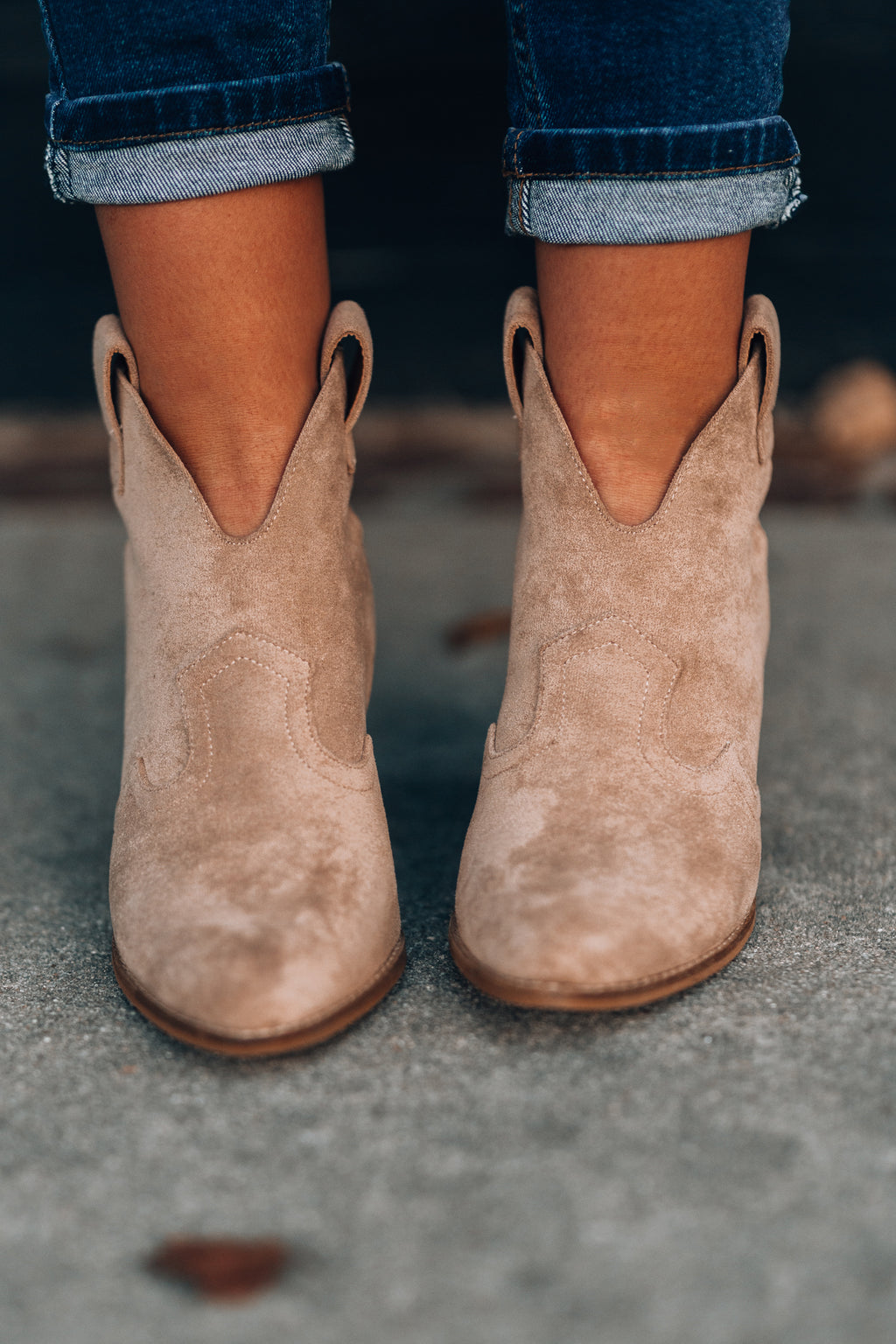Athena Booties (Taupe) - FINAL SALE