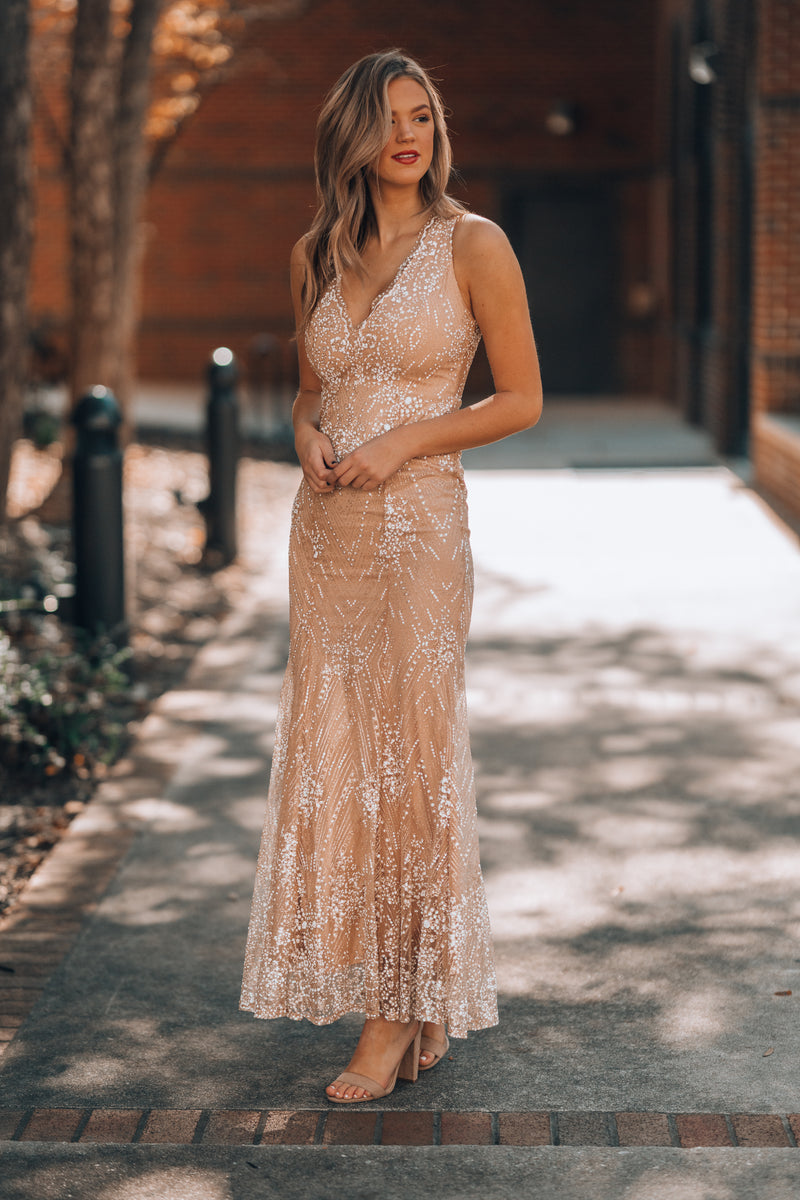 Timeless Glitter Gown - FINAL SALE