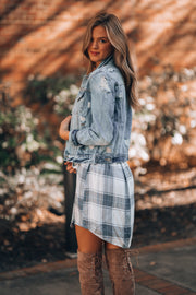 Checked Out Plaid Mini Dress