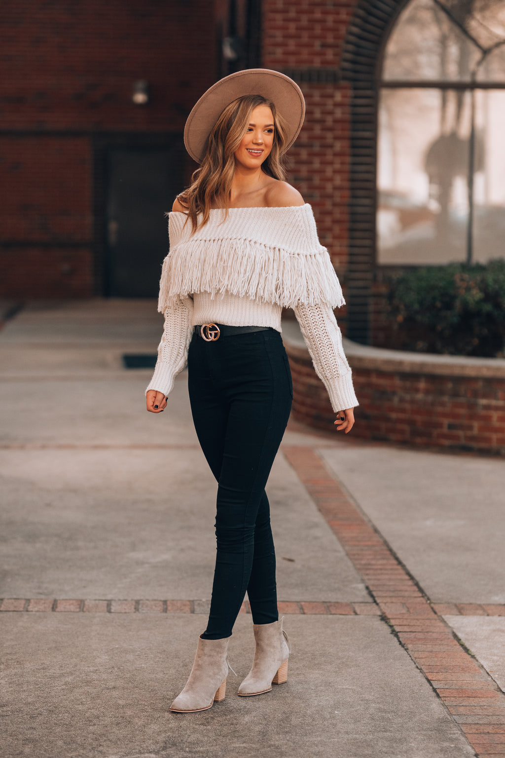 On The Fringe Sweater (Off White) - FINAL SALE