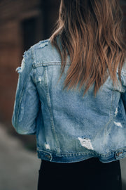 Distressed Denim Jacket PRE-ORDER Ships Mid December