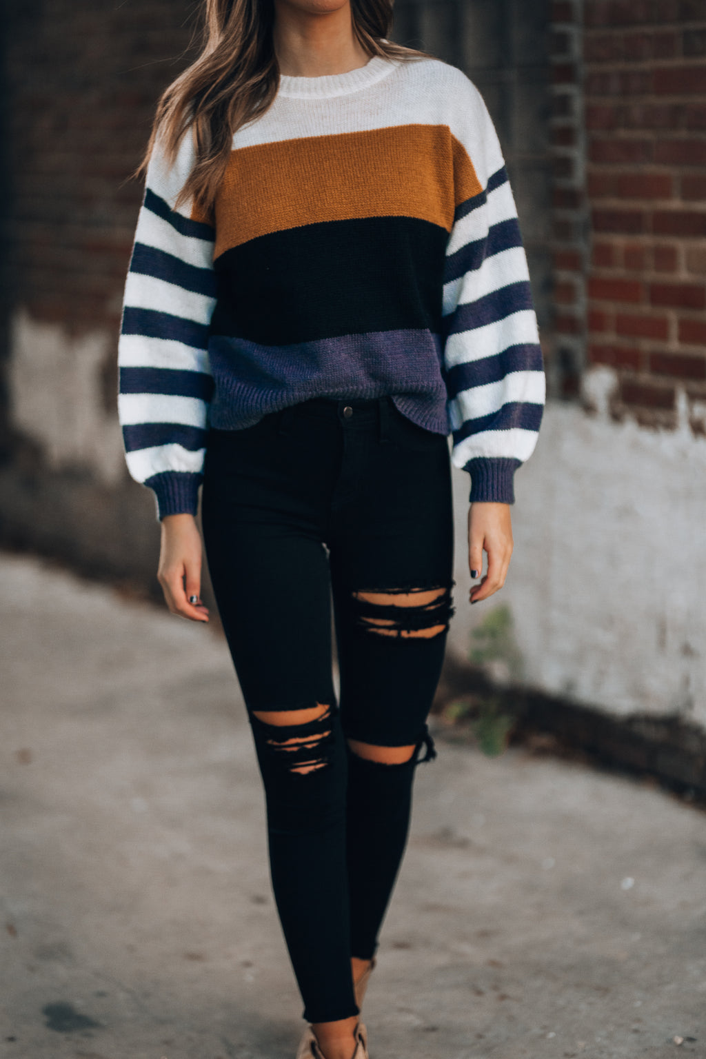 Dana Striped Sweater - FINAL SALE