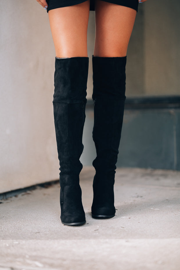 Shelly OTK Boots (Black) PRE-ORDER Ships Mid December