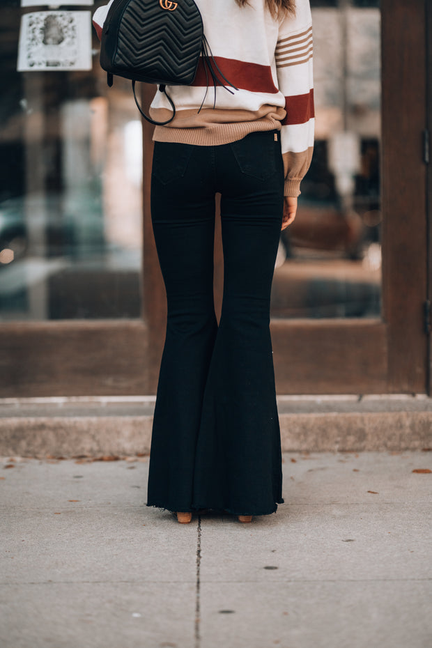 Rodeo Distressed Bell Bottoms (Black) PRE-ORDER - ETA December 13th