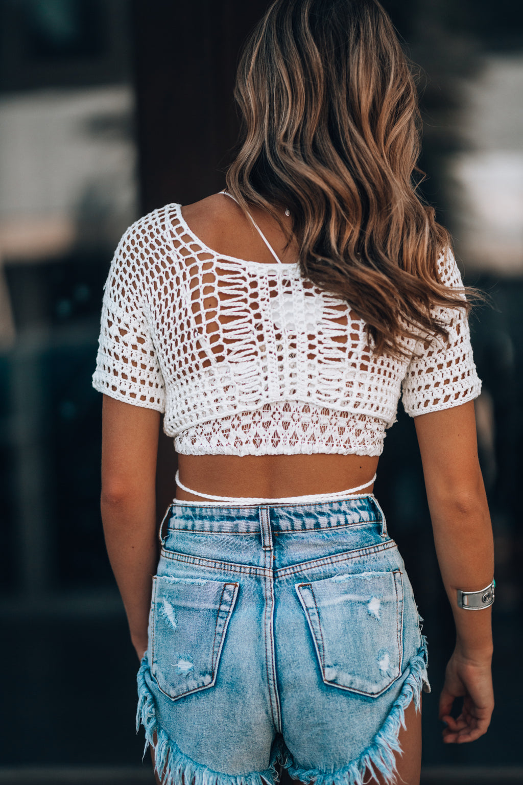 All Those Nights Crochet Top