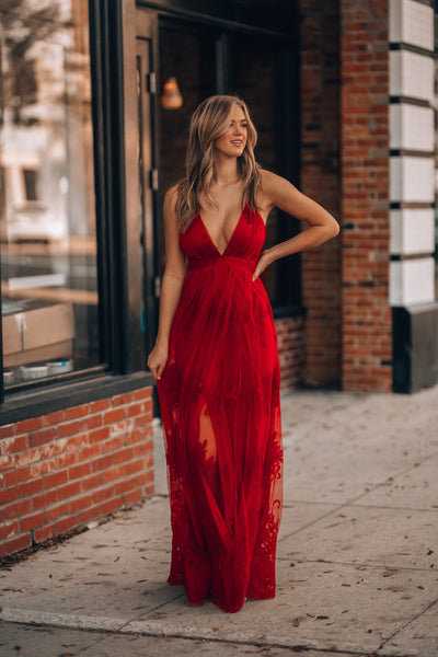 All My Love Maxi Gown (Red)