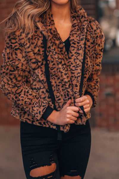 Faux Fur Leopard Jacket