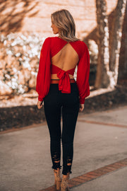 All Night Long Crop Top (Red)