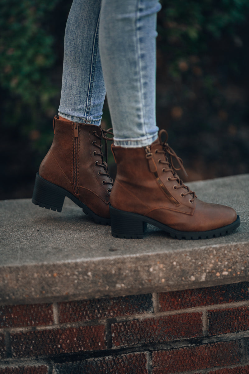 Seize The Day Boots (Brown) - FINAL SALE