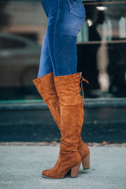 Shelly OTK Boots (Tan) PRE-ORDER Ships Mid December