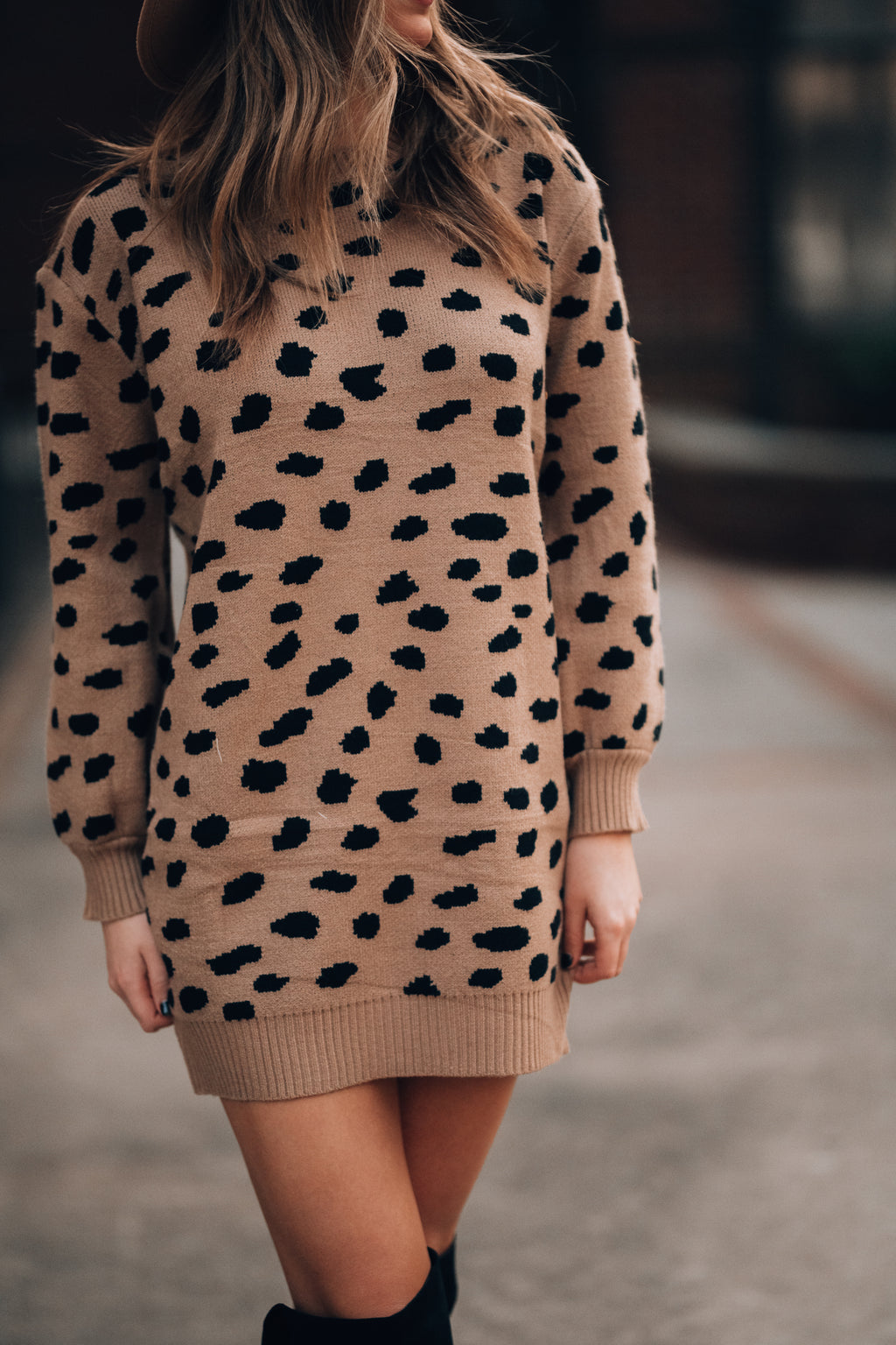 Maddie Cheetah Sweater Dress - FINAL SALE