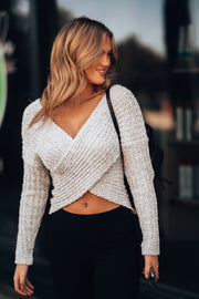Maven Crossover Sweater (Silver)