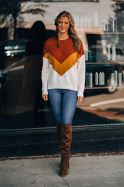 Sunny Side Chevron Sweater (Caramel) - FINAL SALE