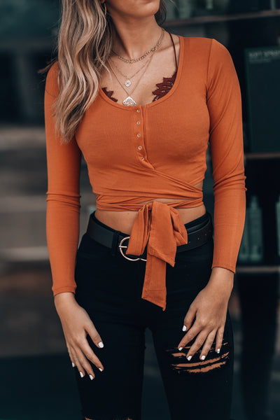 Simmona Wrap Top (Rust)