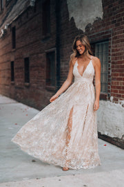 Moments Like These Glitter Gown (Champagne)