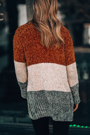 Victoria Color Block Cardigan