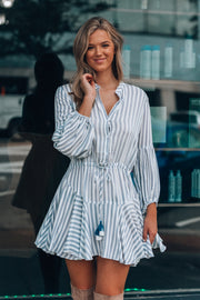 Crossover Striped Dress