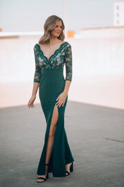 Stand By Me Lace Gown (Forest)