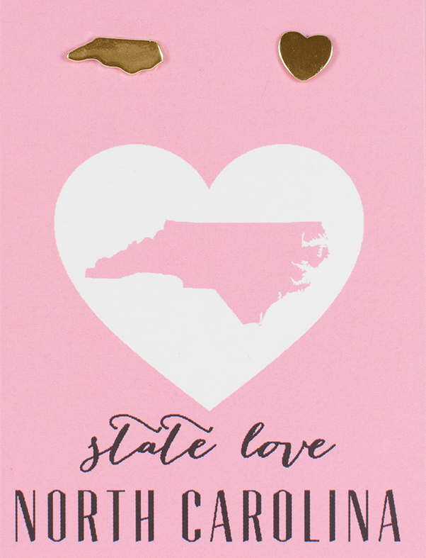 State Love Earrings NORTH CAROLINA