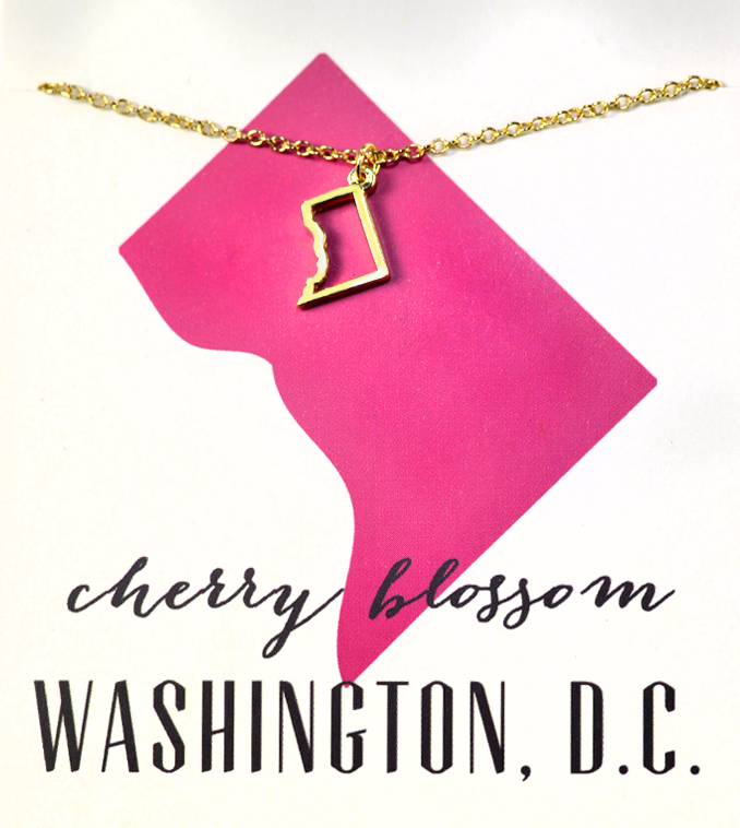State Love Necklace WASHINGTON D.C.