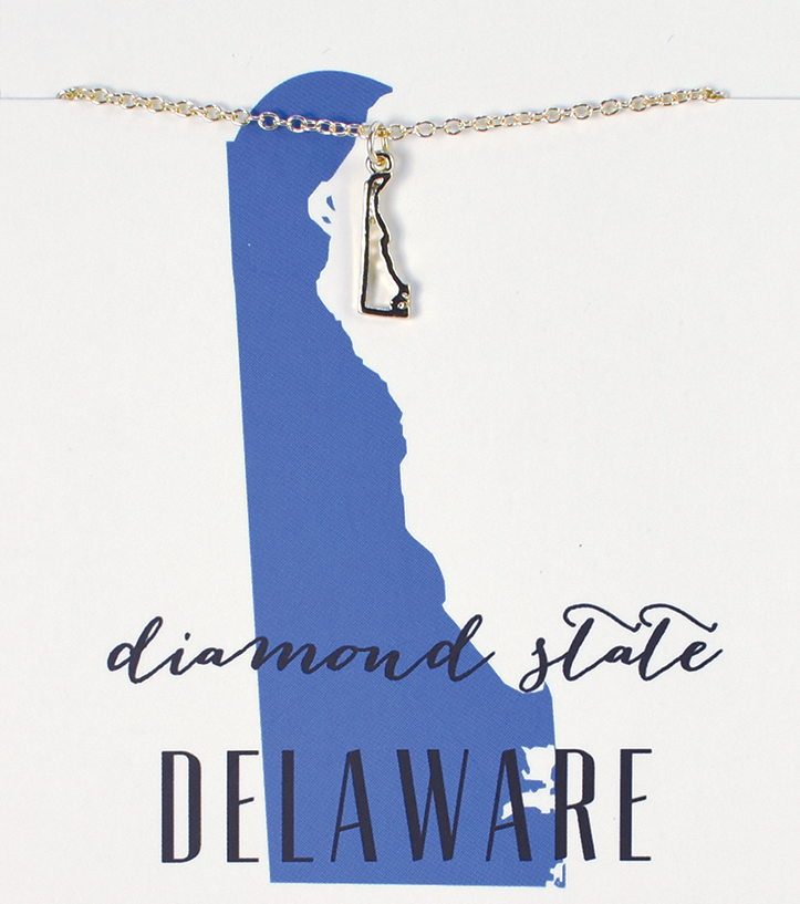 State Love Necklace DELAWARE