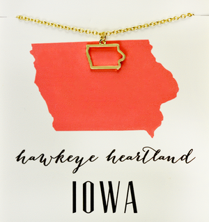 State Love Necklace IOWA