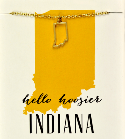 State Love Necklace INDIANA