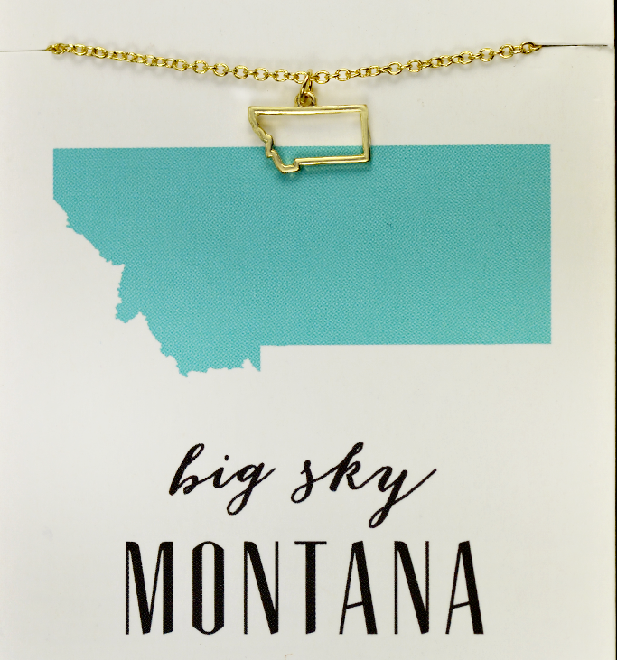 State Love Necklace MONTANA
