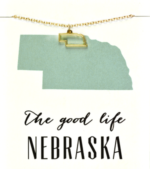 State Love Necklace NEBRASKA