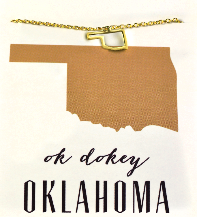 State Love Necklace OKLAHOMA