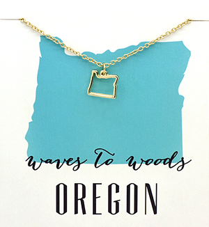 State Love Necklace OREGON