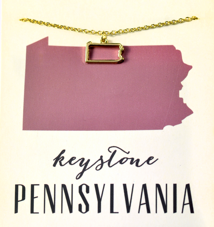 State Love Necklace PENNSYLVANIA
