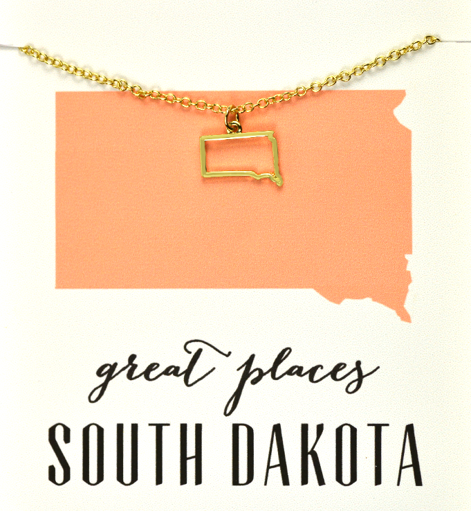 State Love Necklace SOUTH DAKOTA