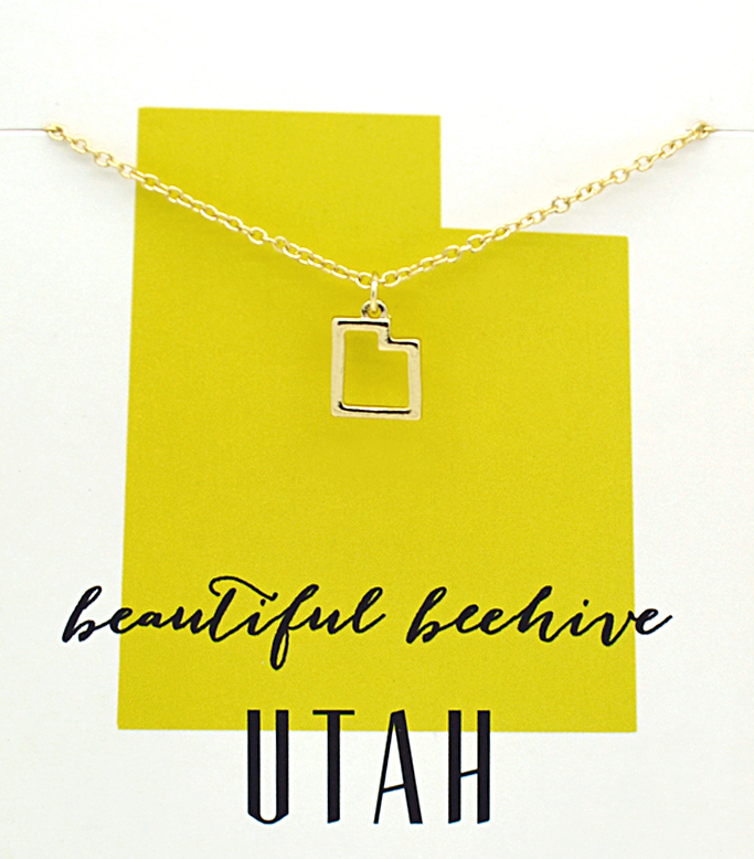 State Love Necklace UTAH