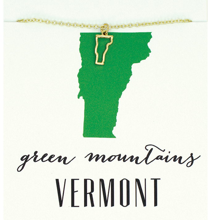 State Love Necklace VERMONT