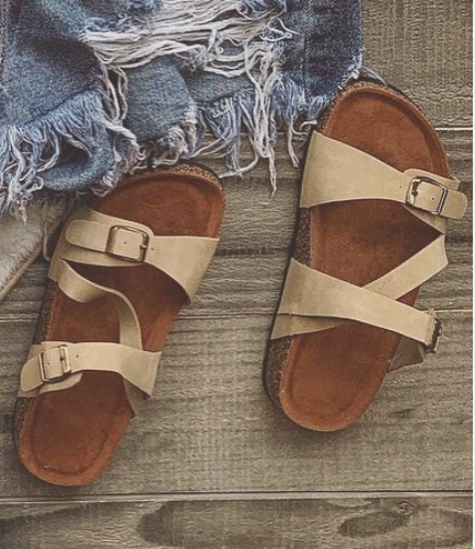 Book Club Slip On Sandals