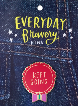 Kept Going Bravery Pin