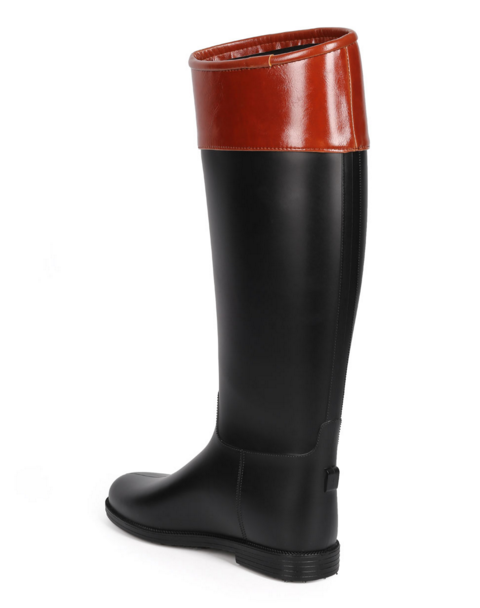 Two-Tone Knee High Rain Boots - FINAL SALE