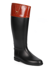 Two-Tone Knee High Rain Boots