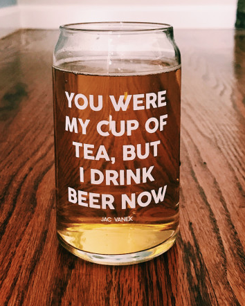 Cup Of Tea Beer Glass
