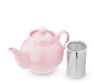 Regan™ Light Pink Ceramic Teapot & Infuser