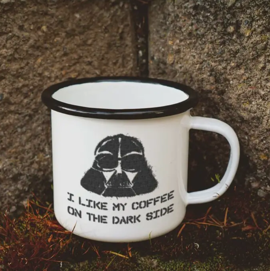 Dark Side Enamel Mug || 16OZ