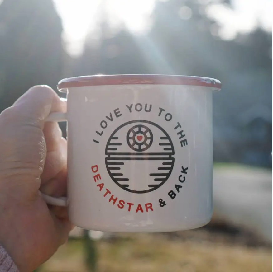 Death Star Enamel Mug || 16OZ