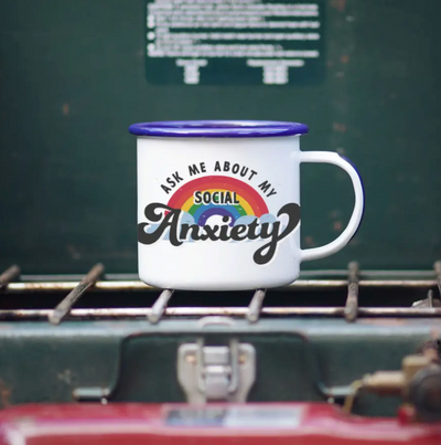 Social Anxiety Enamel Mug || 16OZ