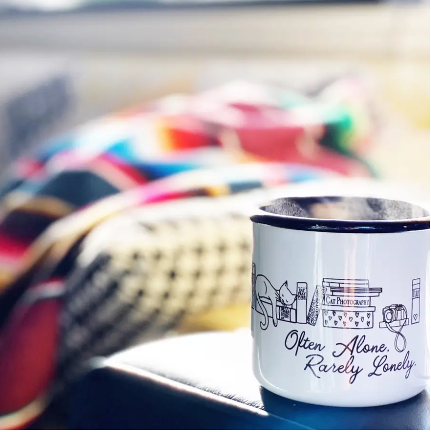 Often Alone Enamel Mug || 16OZ